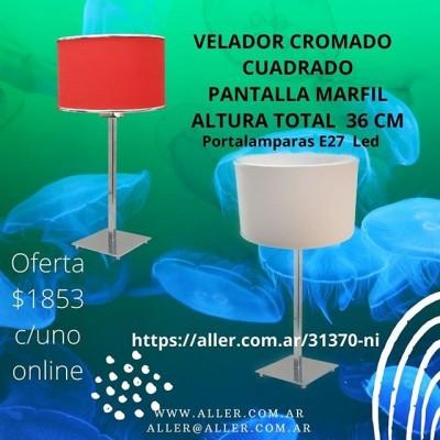 VELADOR CROMADO E27 LED PANTALLA MARFIL OFERTA !! #led #iluminacion #decoracion #comedor #cocinas #living #dormitorios  #deco  #diseñodeinteriores #arquitectura #argentina 🌐-www.aller.com.ar 📩-aller@aller.com.ar 🚚-Envios a todo el país ☎ +54 11 4816.-4293 ☎ +54 11 4811-6432 📱 +54 911-4163-1890 🌎 Libertad1252(1012) Buenos Aires-Argentina