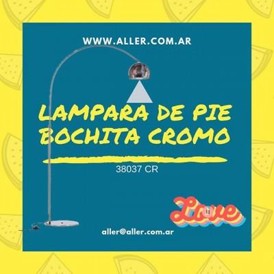 LAMPARA DE PIE BOCHA CROMO 38037 CR E27 BULBO LED https://aller.com.ar/38037-cr 🌐-www.aller.com.ar 📩-aller@aller.com.ar 🚚-Envios a todo el país ☎ +54 11 4816.-4293 ☎ +54 11 4811-6432 📱 +54 911-4163-1890 🌎 Libertad1252(1012) Buenos Aires-Argentina #led #iluminacion #decoracion #decor  #revistas de decoracion argentina #decoracion #deco #diseño #diseñodeinteriores #arquitectura  #iluminacion #comedor #cocinas #living #dormitorios